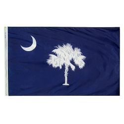 5' X 8' Nylon South Carolina State Flag