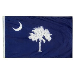 "12"" X 18"" Nylon South Carolina State Flag"
