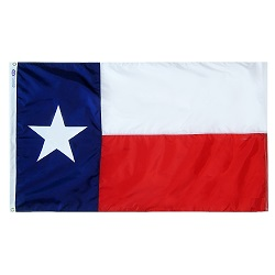 "12"" X 18"" Nylon Texas State Flag"