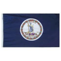 """12"""" X 18"""" Nylon Virginia State Flag"""