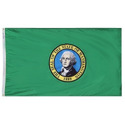3' X 5' Polyester Washington State Flag