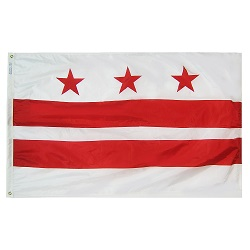 6'x10' Nylon Washington D.C. Flag