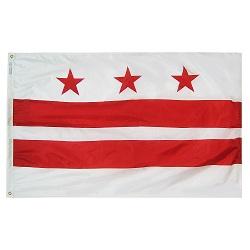 2'x3' Nylon Washington D.C. Flag