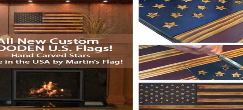 Wooden flag slider