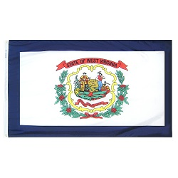 5' X 8' Nylon West Virginia State Flag