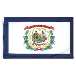 "12"" X 18"" Nylon West Virginia State Flag"
