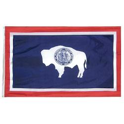 """12"""" X 18"""" Nylon Wyoming State Flag"""