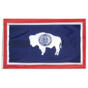 5' X 8' Nylon Wyoming State Flag