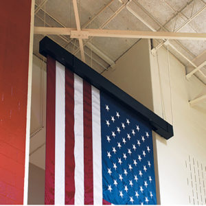 Vertical or Horizontal Motorized Gym Flag
