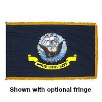 4' X 6' Indoor Nylon Navy Flag