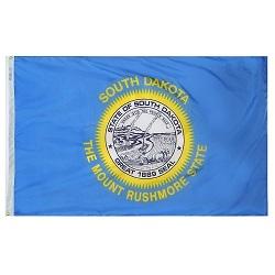 "12"" X 18"" Nylon South Dakota State Flag"