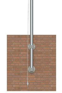 12' Vertical Mount Economy Flagpole