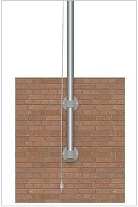 Commercial Wall Mount Flagpoles Vertical