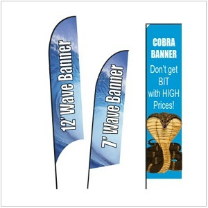 Wave and Cobra Feather Banner Flags